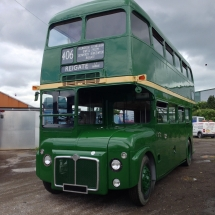 RM2 owned by the London transport museum was given a bare metal repaint by us into its original livery